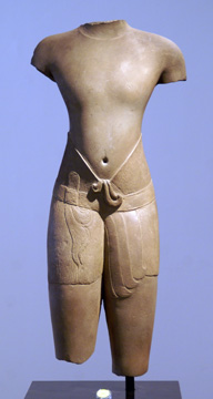 """torso of male deity"" Khmer"