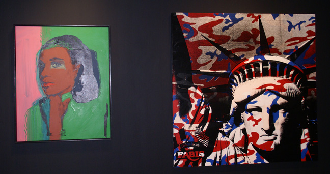 """Ladies and Gentlemen"" and ""Statue of Liberty"" by Warhol"