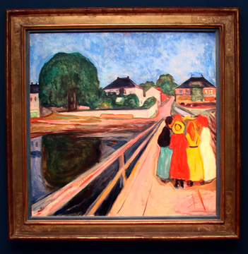 """Girls on a Bridge"" by Munch"