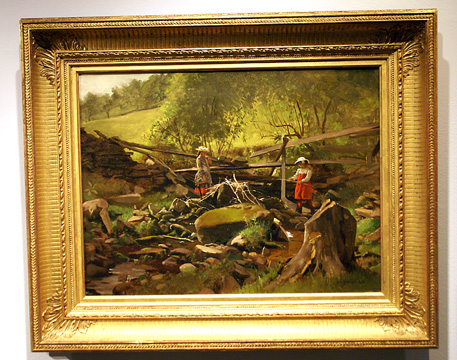 """Fishing, Fort Lee, New Jersey"" by John George Brown"