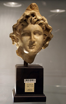 Roman marble head of a youth