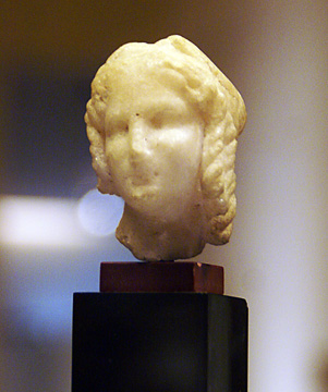 Hellenistic marble head of Isis or Ptolemaic queen