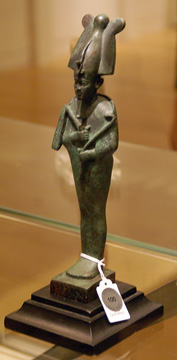 Egyptian bronze figure of Osiris