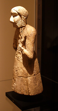 Sumerian figure of a worshipper