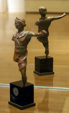 Roman Imperial bronze figure of a warrior