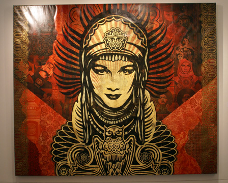 """Peace Goddess"" by Fairey"