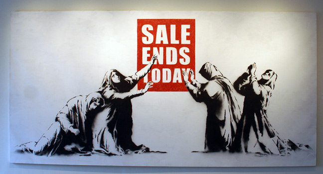 """Sale Ends Today"" by Banksy"