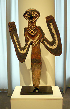 """Half figure of the god Iriwake"" Papua New Guinea"