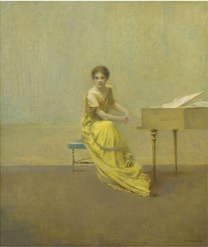 """The Music Lesson"" by Dewing"