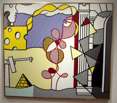 """Figures in a Landscape"" by Lichtenstein"