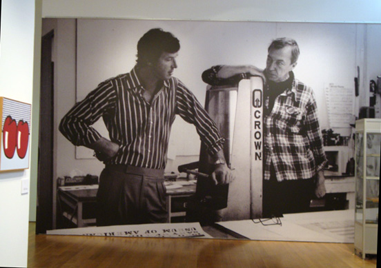 Michael Crichton and Jasper Johns at Gemini