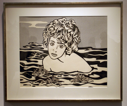 """Girl in water"" by Lichtenstein"