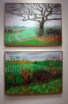 """The Field Entrance, January 2006"" by Hockney"