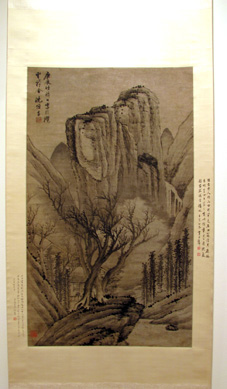 """Cottage in the Winter Mountains"" by Shen Hengji"