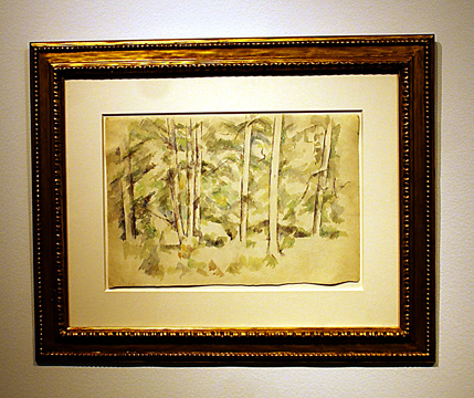 """Foret"" by Cezanne"