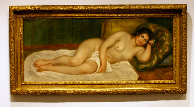 Nude Woman on a Sofa by Renoir