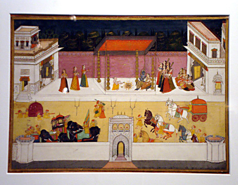 Ghagavata Purana, wedding of Krishna and Rukmini