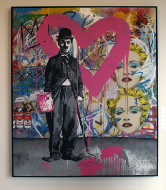 """Charlie Chaplin Pink"" by Mr. Brainwash"
