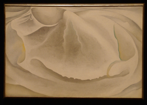 """Inside Clam Shell"" by O'Keeffe"