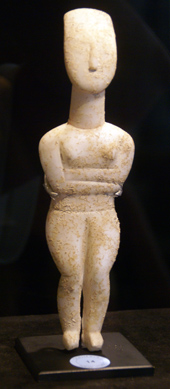 Cycladic marble figure of a goddess