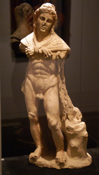 Etruscan terracotta figure of Herakles