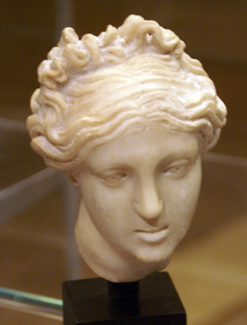 Roman marble head of Aphrodite