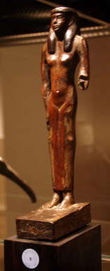 Egyptian wood figure of a woman