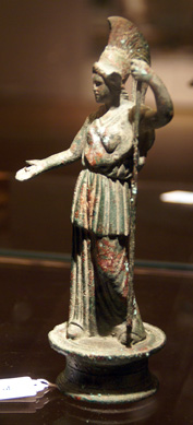 Roman bronze figure of Athena