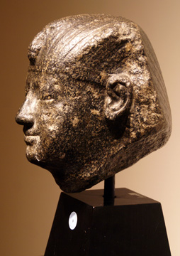 Egyptian granite head of a king