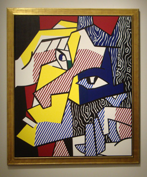 """Expressionist Head"" by Lichtenstein"