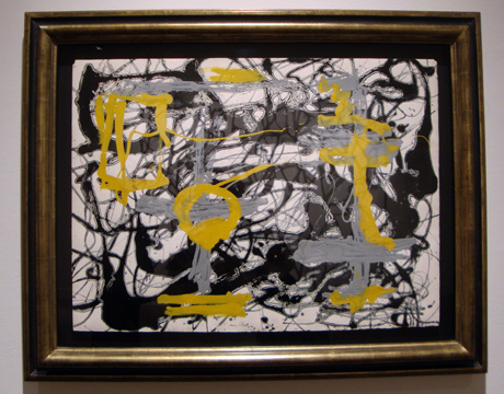 """Number 12A, 1948: Yellow, Gray, Black"" by Pollack"