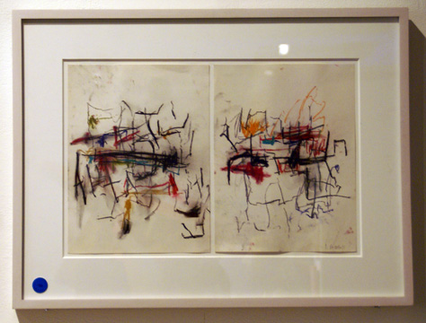 Untitled pair of pastels by Joan Mitchell