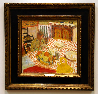 """Marthe and her dog"" by Bonnard"