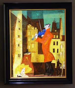 """The Red Fiddler"" by Feininger"