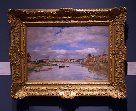 """Trouville, Le Port"" by Boudin"