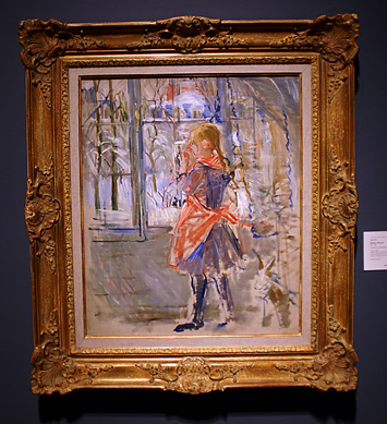 """L'Enfant au Tablier Rouge"" by Morisot"