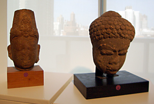 8th Century sandstone heads