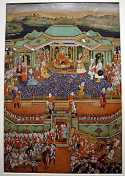 """Shah Abbas Receiving the Mughal Mission"""