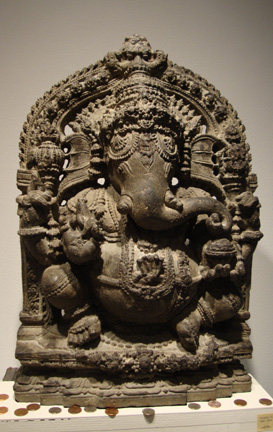 Stone figure of Ganesha from India, Karnataka