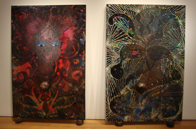 """Untitled Diptych"" by Ofili"