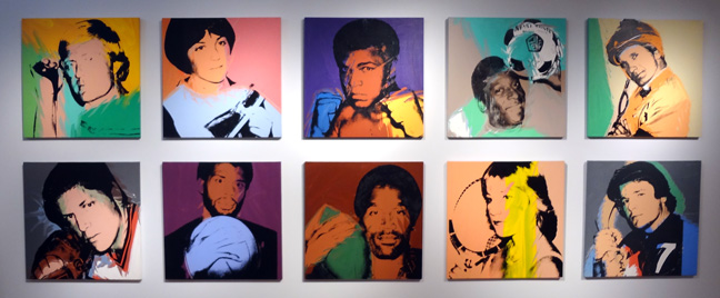 The complete athlete series by Warhol