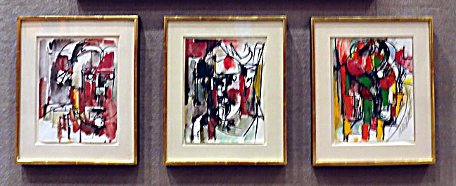 Three paintings by Hofmann