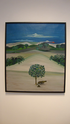 """Untitled (Landscape with cannon)"" by Khakhar"