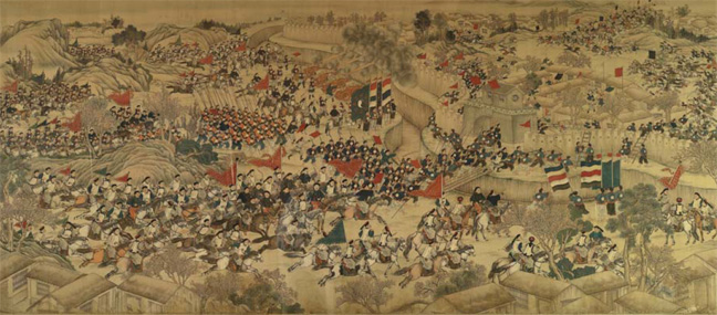 Siege of Pingyu painting