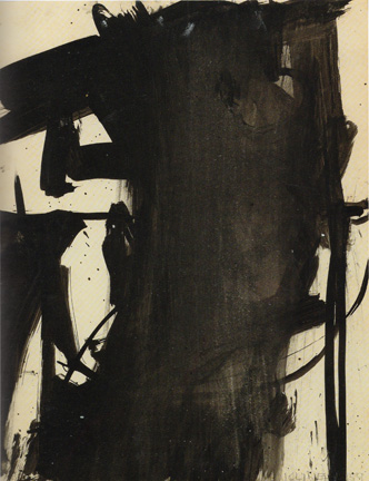 Study for Charcoal, Black and tan by Kline