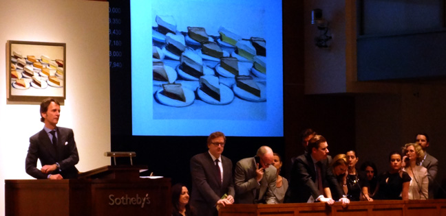 "Tobia Meyer auctioning ""Pies"""