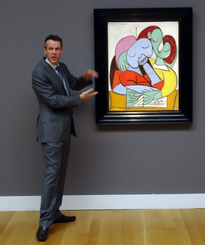 Simon Shaw with Picasso