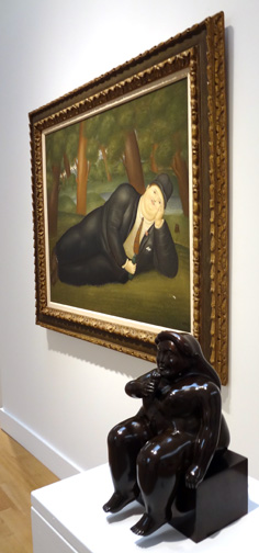"""El Poeta"" by Botero in background"
