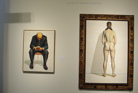 """Man Reading"", left, and""Nude Back View,""right, both by Thiebaud"