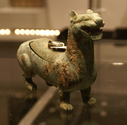 Bronze lamp in the form of a tiger